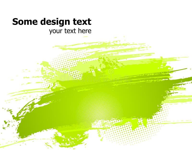 La vernice astratta verde spruzza l'illustrazione. Vettore