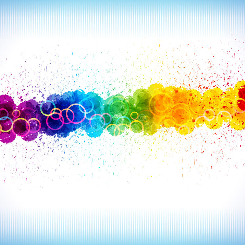 La vernice di colore spruzza. illustrazione di stock