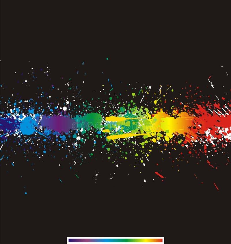 La vernice di colore spruzza. Priorità bassa di vettore di gradiente royalty illustrazione gratis