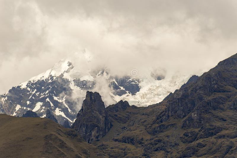 La Veronica, sneeuwberg, Peru stock foto