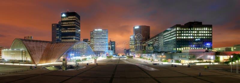 La-Verteidigung Panoramisch, Paris, Frankreich Lizenzfreie Stockfotos