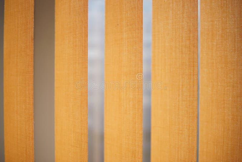La vertical beige ciega el primer foto de archivo