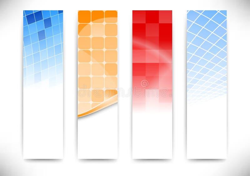 La vertical carda la colección ilustración del vector