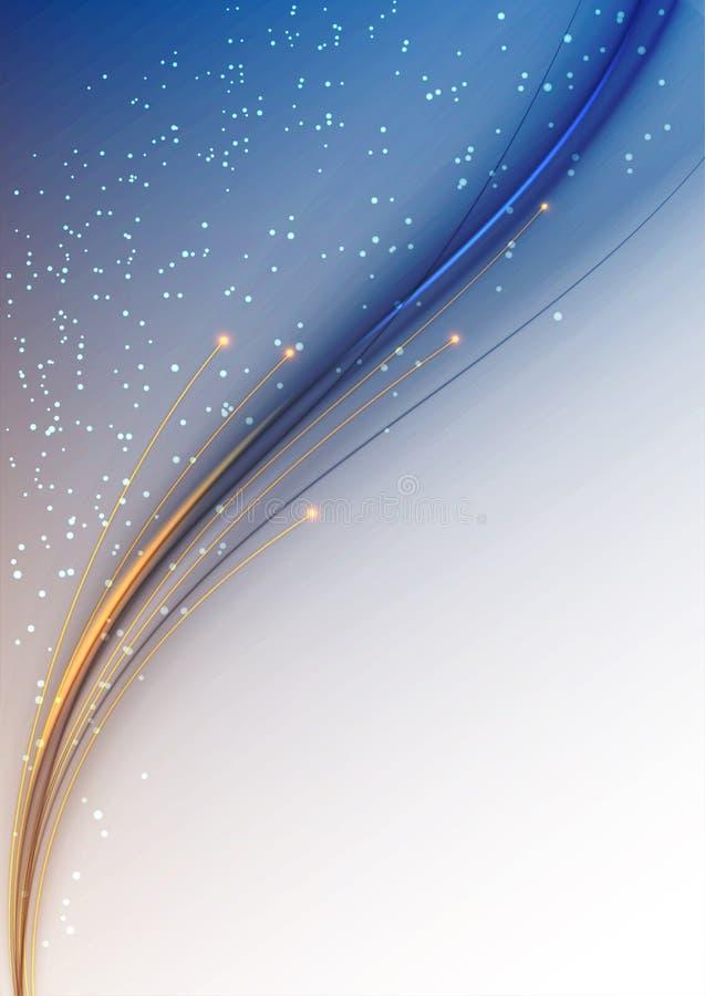 La verticale incurvée ondule avec des lucioles images stock
