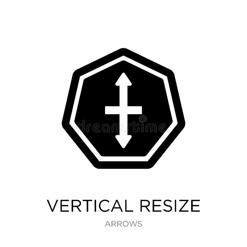 la verticale remettent à la côte l'icône dans le style à la mode de conception la verticale remettent à la côte l'icône d'isoleme illustration libre de droits