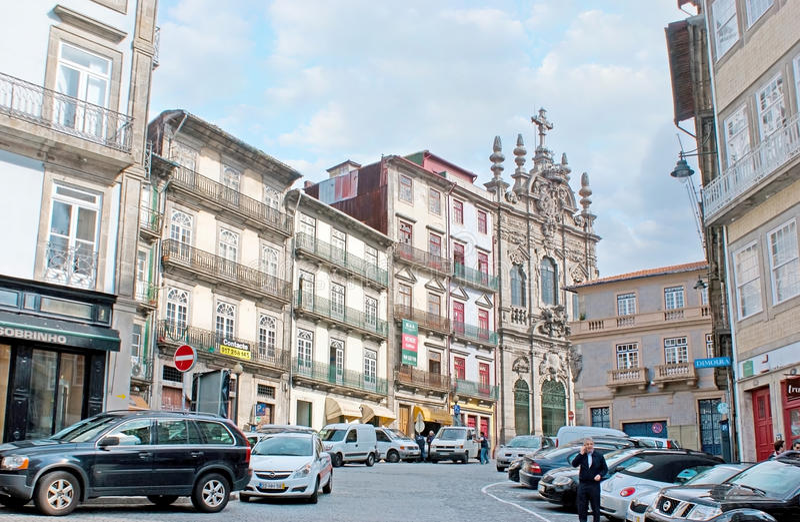 La via del Flores a Oporto fotografie stock