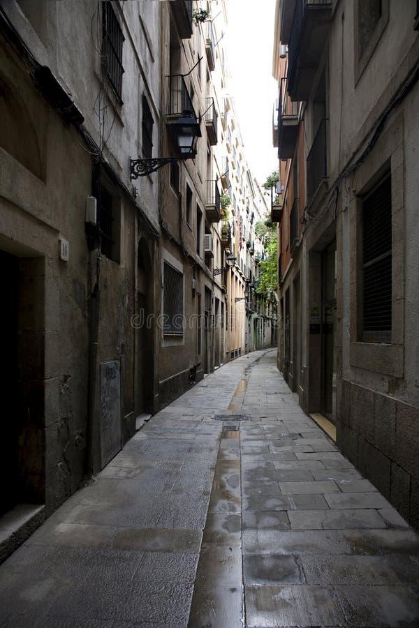 La via di Barcellona immagini stock