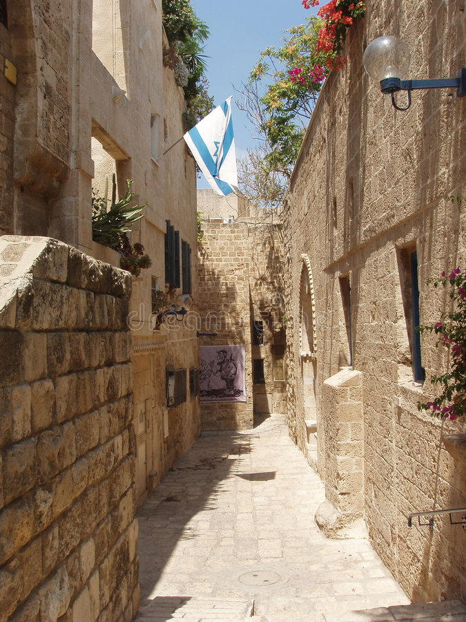 Download La via di vecchio Jaffa fotografia stock. Immagine di stella - 202872