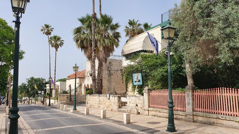 La via principale nello zichron yaakov Israele immagini stock libere da diritti