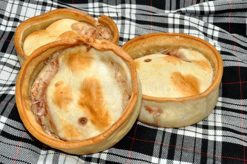 Tartes remplis par viande écossaise photographie stock libre de droits