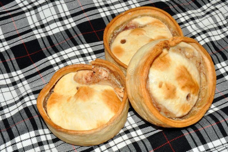 Tourtes à la viande écossaises images libres de droits