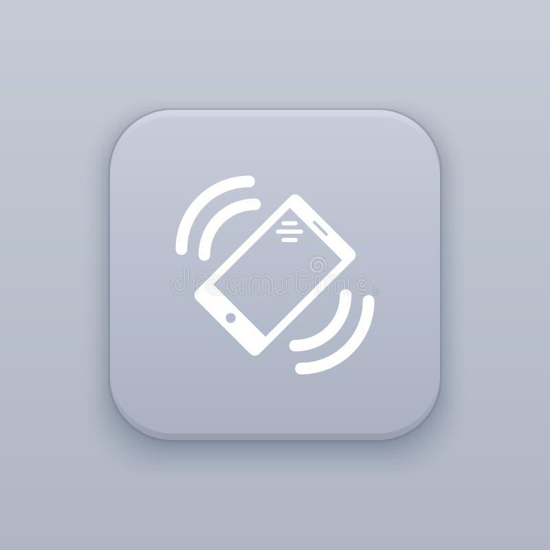 La vibrazione, vibrante, vibra il bottone, migliore vettore su un fondo grigio, ENV 10 royalty illustrazione gratis