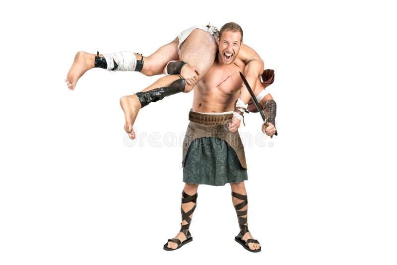 La victoria del gladiador imagen de archivo