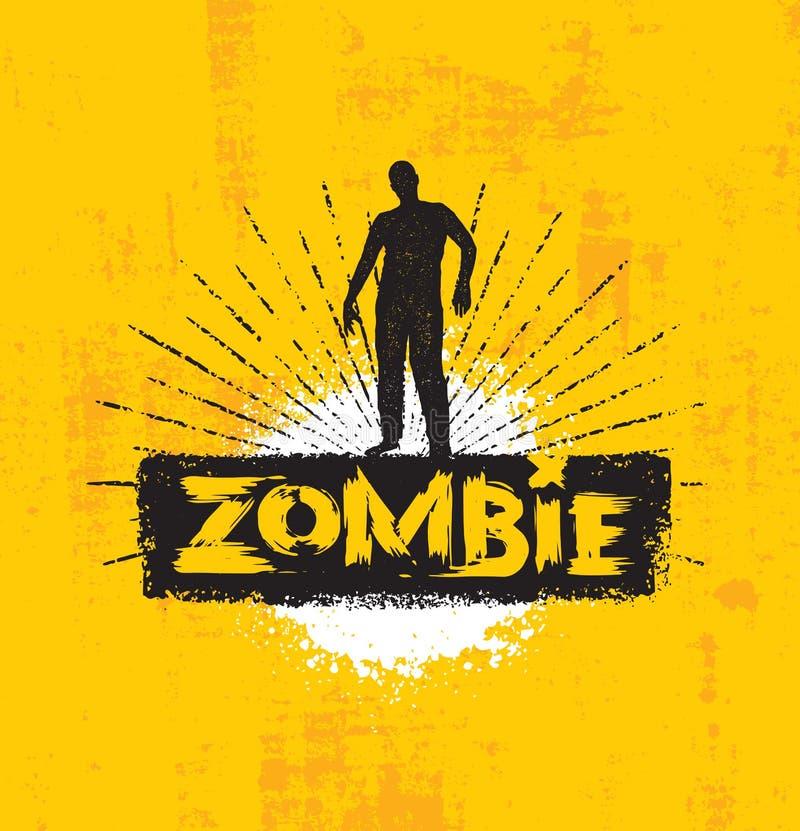 La vida comienza en el extremo de su zombi de la comodidad Plantilla creativa inspiradora divertida del cartel de la cita de la m stock de ilustración