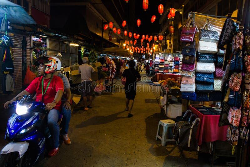 La vida de noche de la ciudad de China fotos de archivo libres de regalías