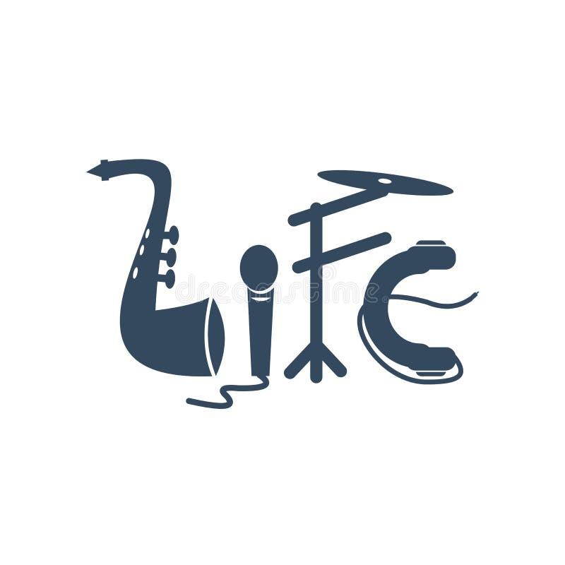 La vida es como el ejemplo de la música fotografía de archivo libre de regalías