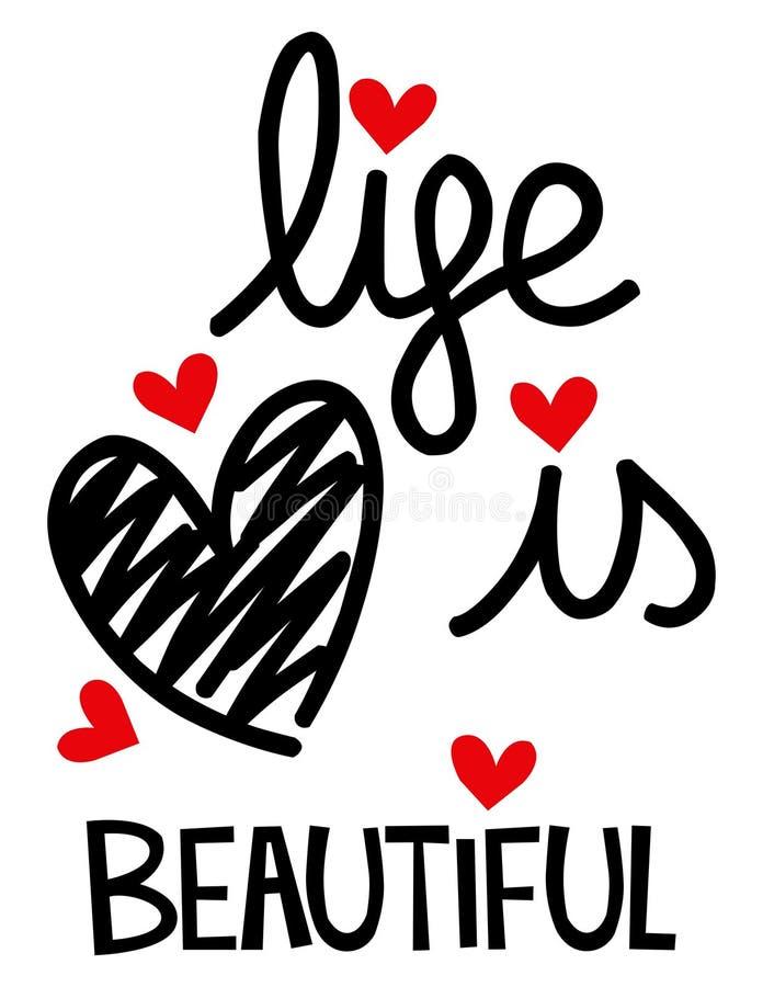 La vida es corazón hermoso fotos de archivo libres de regalías