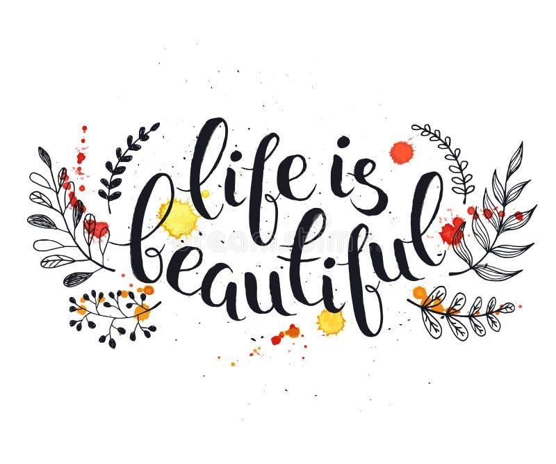 La vida es hermosa ilustración del vector