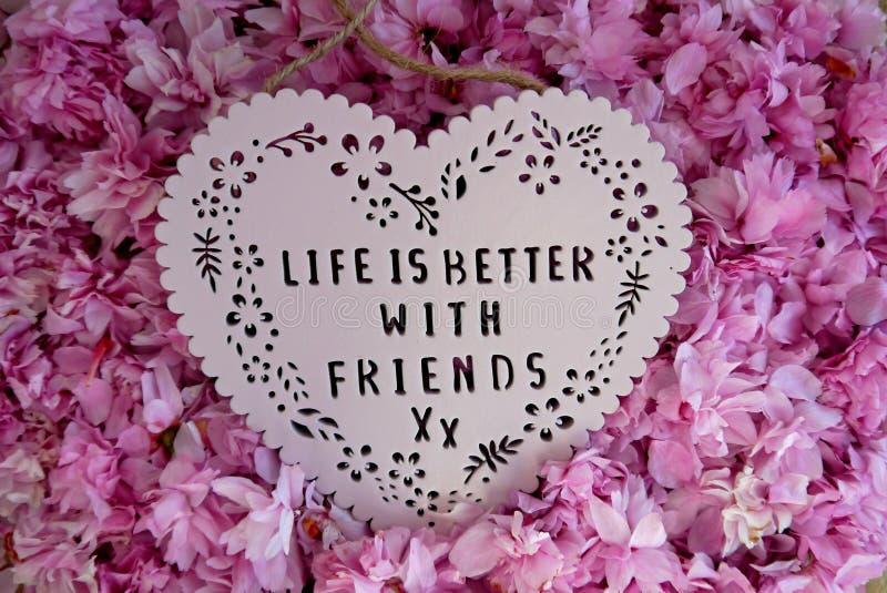 La vida es mejor con los amigos foto de archivo libre de regalías
