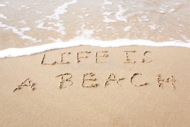 La vida es una playa imagen de archivo libre de regalías