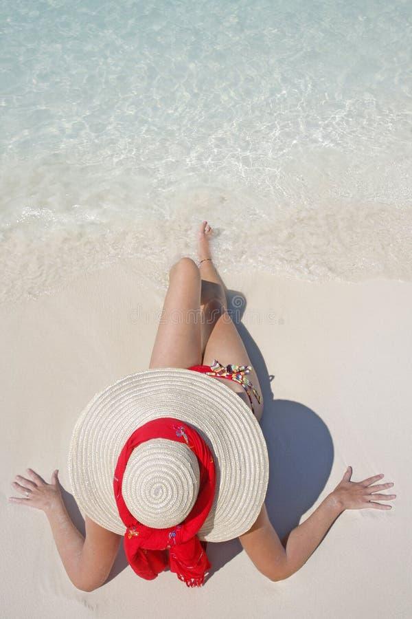La vida es una playa (la orilla) foto de archivo