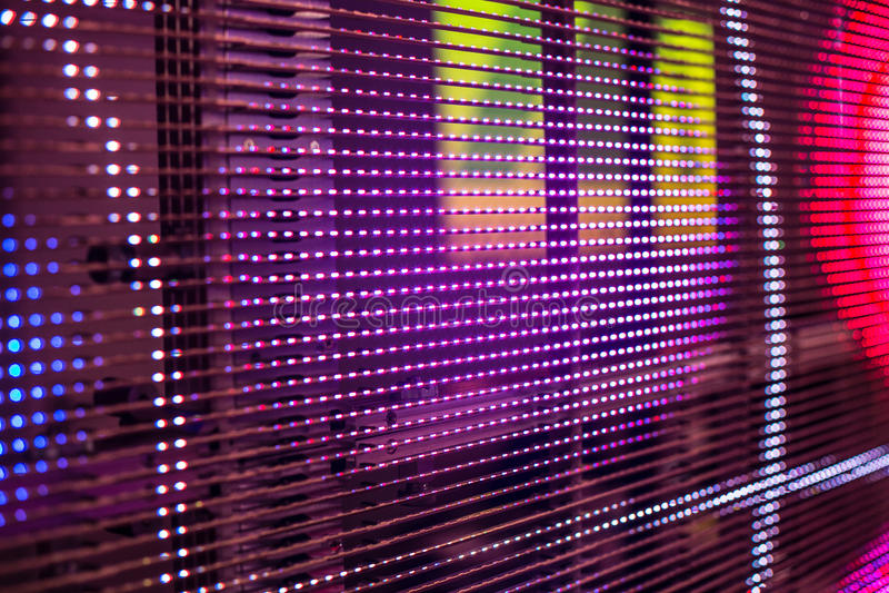 La video parete colorata luminosa del LED con il livello ha saturato il modello - clos immagine stock libera da diritti