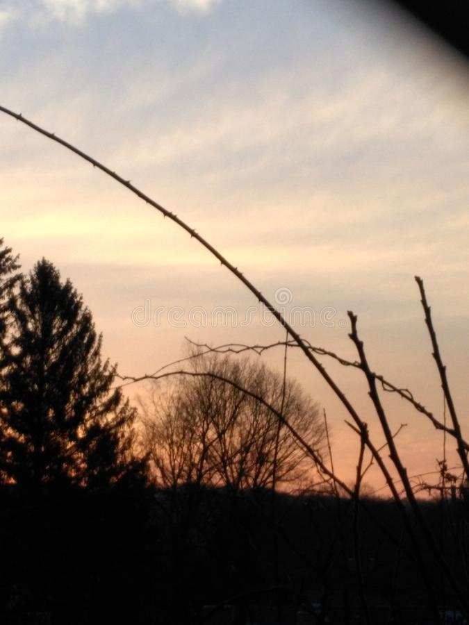 La vie affectueuse de grand ciel inspirant photographie stock libre de droits