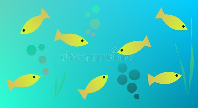 La vie aquatique illustration libre de droits