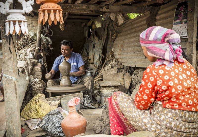 La vie dans Bhaktapur, Népal photos stock