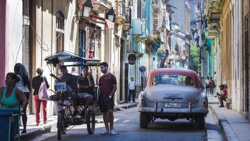 La vie dans la rue colorée La Havane, Cuba photos libres de droits