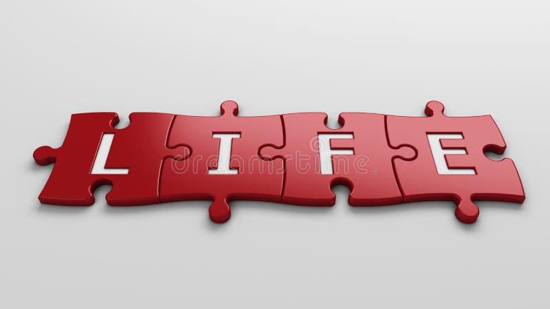 La vie de concept illustration stock