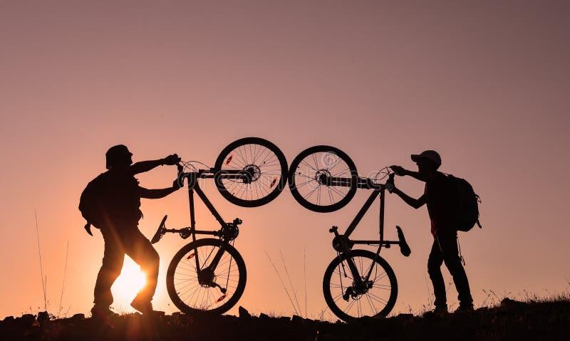 La vie de cyclistes images libres de droits