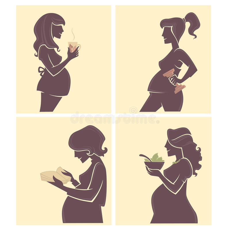 La vie de mamans illustration libre de droits