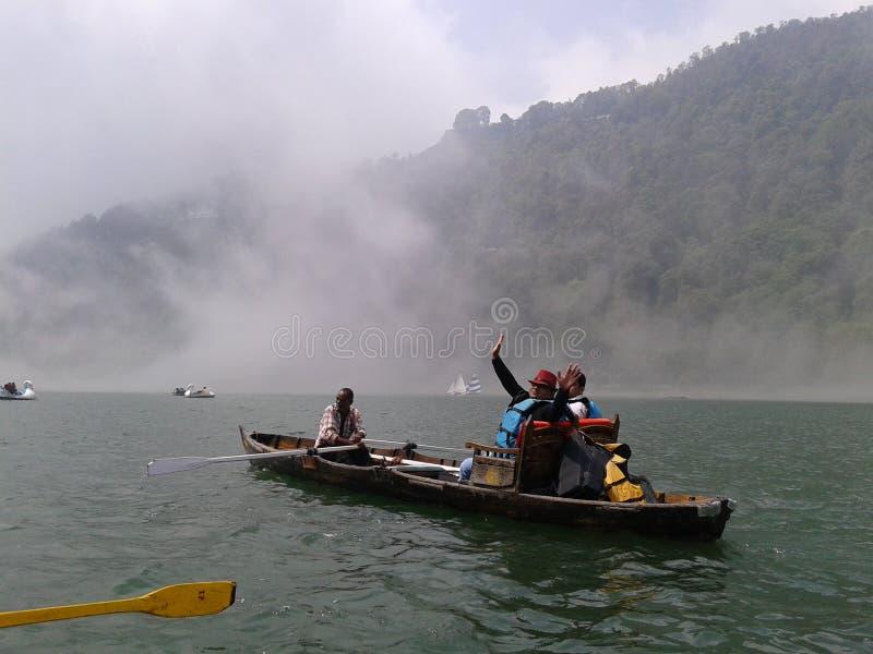 La vie de Nani Lake dans l'Inde de Nanital photos libres de droits