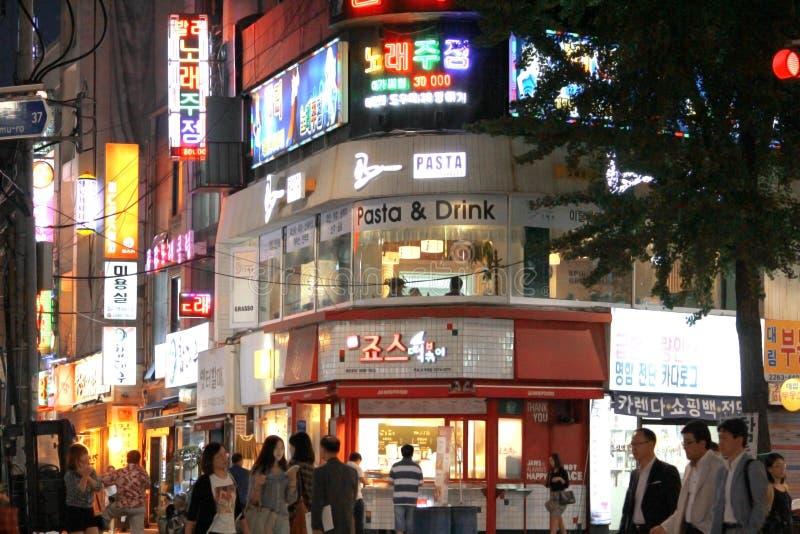 La vie de nuit de Séoul images stock