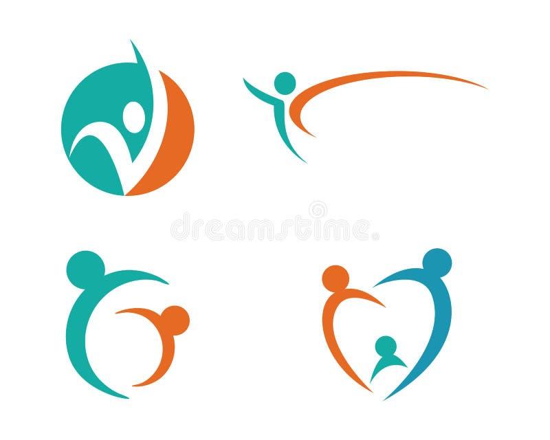 La vie de santé et logo d'amusement illustration libre de droits