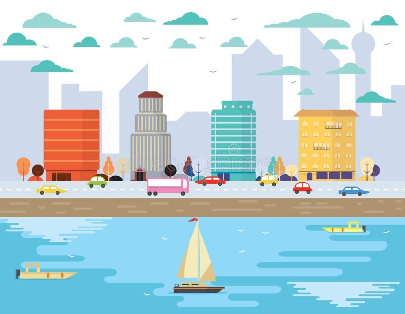 La vie de ville illustration libre de droits