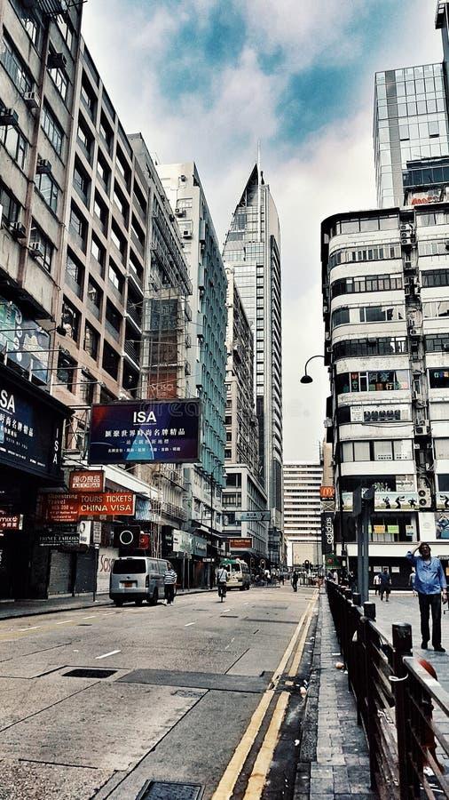 La vie de ville de Hong Kong images libres de droits