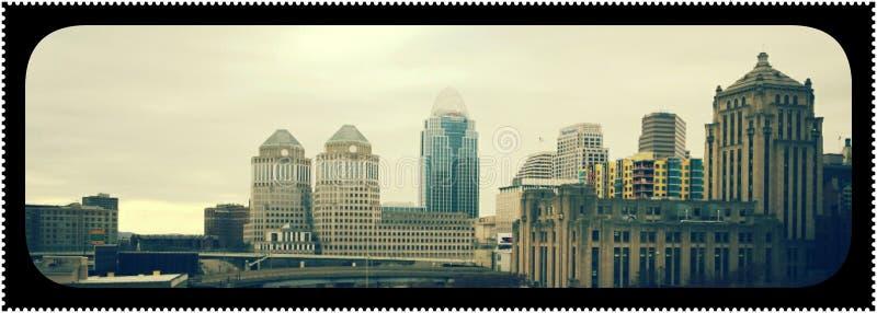 La vie de ville du centre image libre de droits