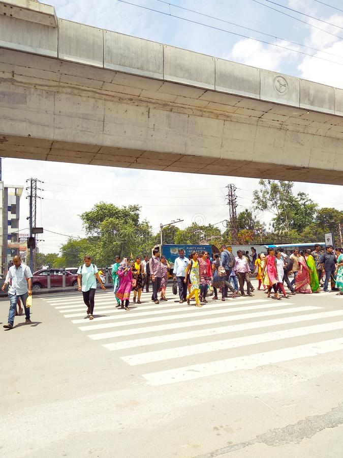 La vie de ville de l'Inde photographie stock libre de droits