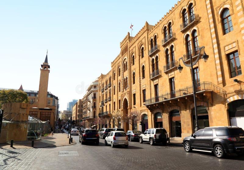 La vie du centre de Beyrouth dans la ville images libres de droits