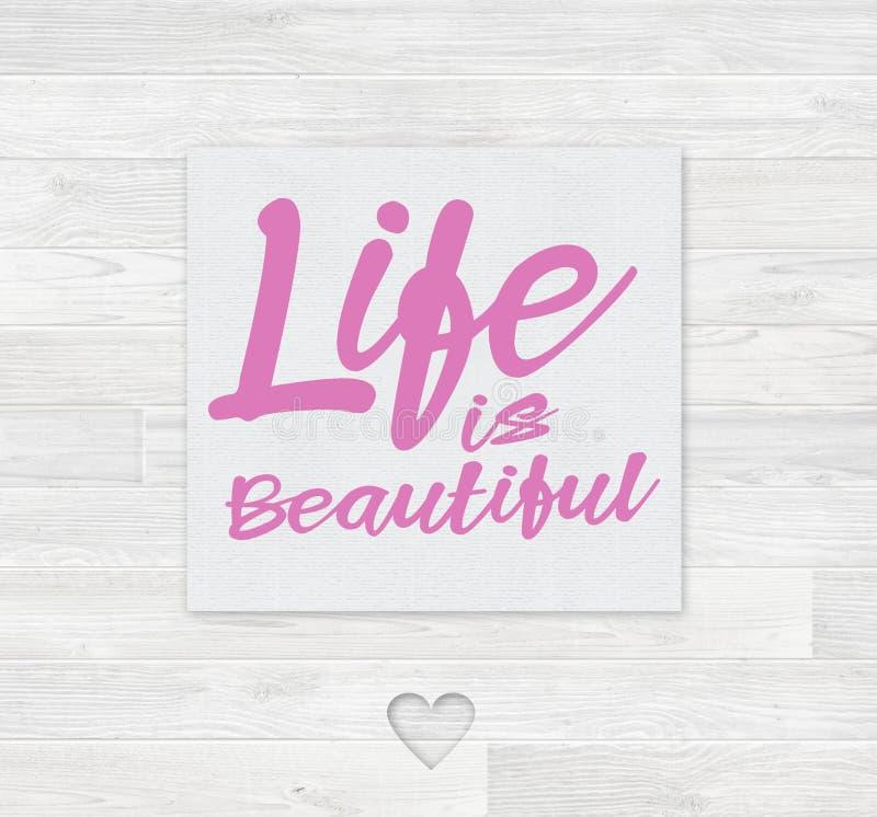 La vie est belle carte photos stock