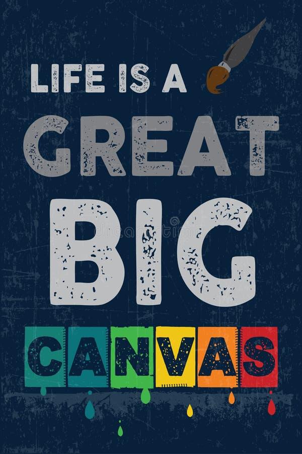 La vie est un grand grand Canvers illustration de vecteur