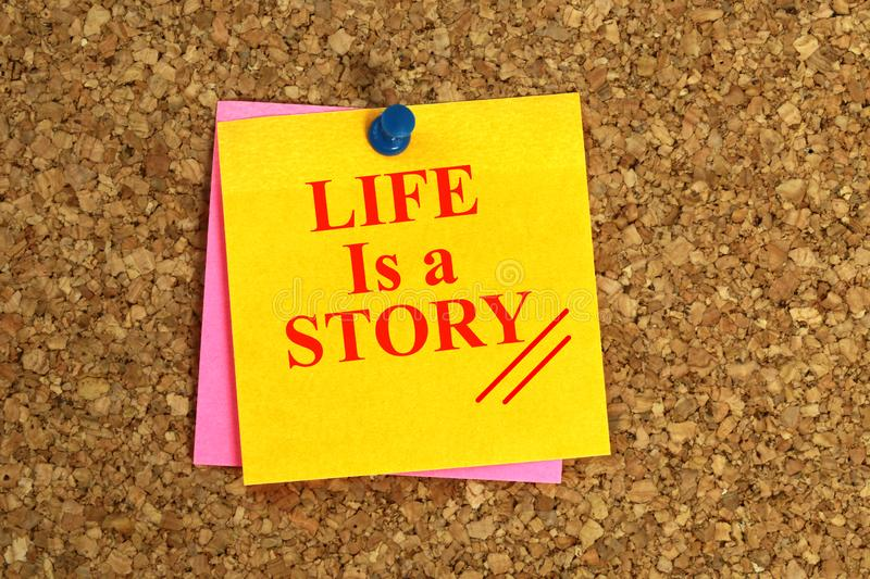 La vie est un titre d'histoire photographie stock libre de droits