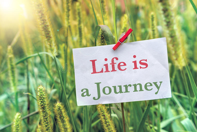 La vie est un voyage images stock