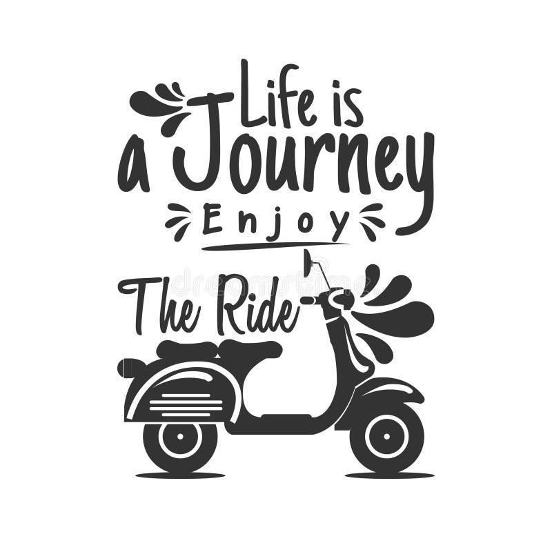 La vie est un voyage apprécient le tour illustration libre de droits