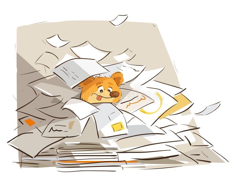 La vie occupée de bureau illustration libre de droits
