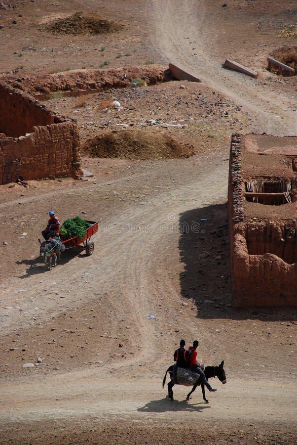 La vie rurale Agdz, Souss-Massa-Draâ, Maroc images stock