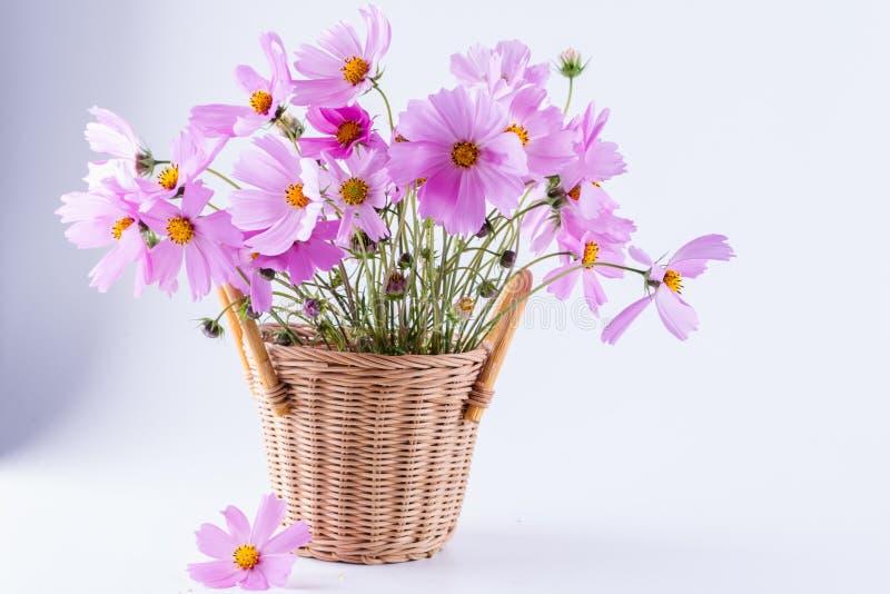 La vie toujours avec le bouquet des fleurs roses d'été image libre de droits
