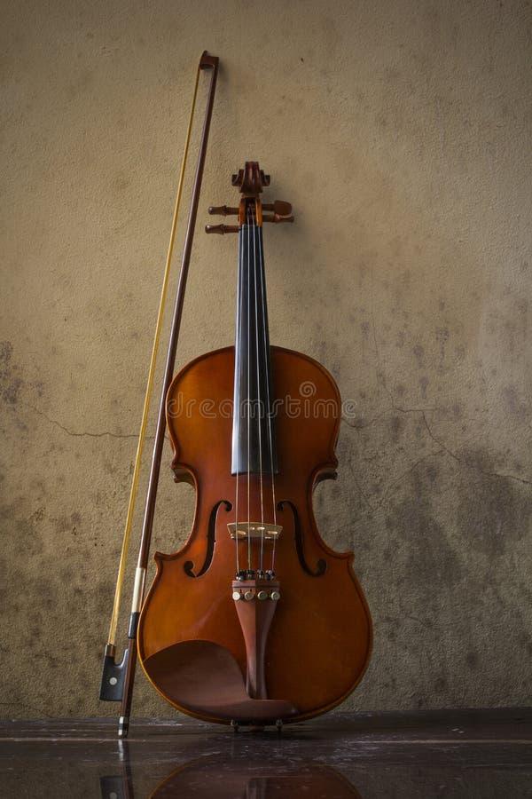 La vie toujours avec le violon de vintage image libre de droits